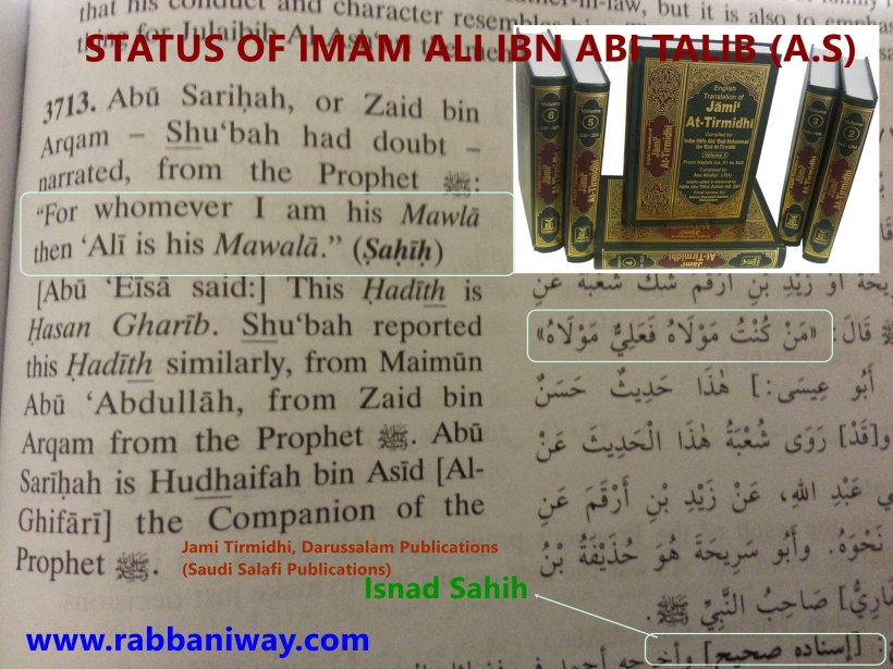The saved sect:The Rabbaniyyun llovers of Ali Ibn Abi Talib (A.S) The Infallible Ali (R.A) gave Allegiance to Abu Bakar and Umar (Peace be upon them)
