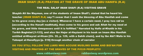 Imam Shafi's (r.a) Isthighasa at the grave of Imam Abu Hanifa (R.A)