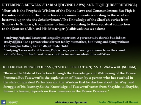 Fiqh and Tasawwuf